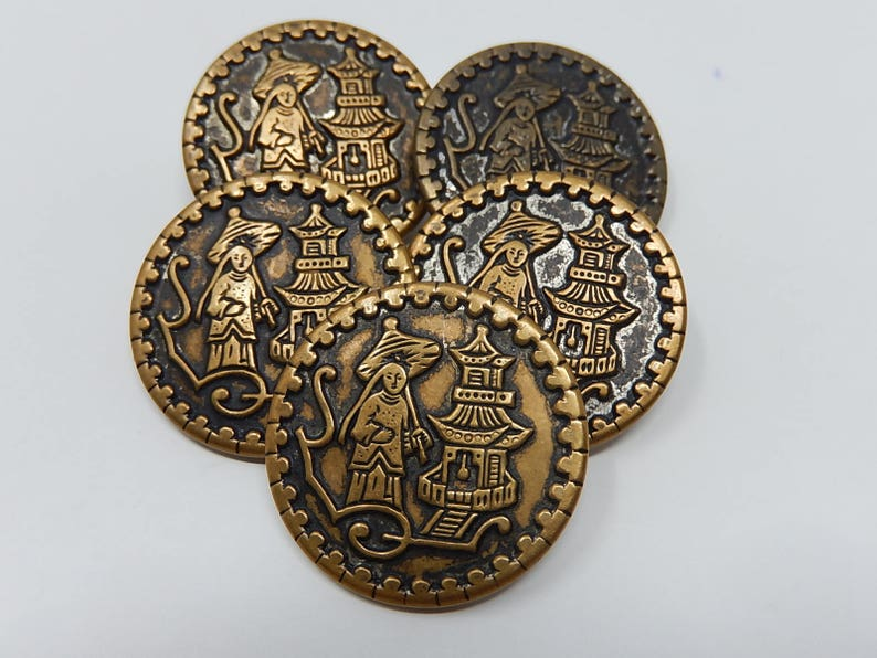 Diameter Five Chinese Buttons 2,6 cm