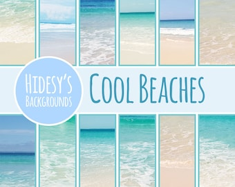 Cool Beach Photos // Beach Digital Papers // Beaches Themed Digital Scrapbooking Papers // Australian Beach Photographic Papers