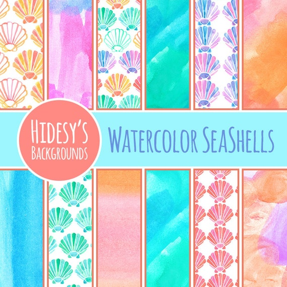 Watercolor Digital Paper Water Color Digital Paper Etsy