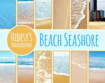 Beach Digital Papers // Seashore Digital Scrapbooking Papers // Australian Holiday Scrapbooking Photographs // Australian Beaches Photos