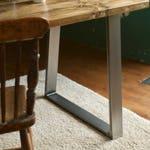 Muebles De Oficina De Madera.Mesa Escritorio De Madera Reciclada Patas De Metal Estilo Industrial Muebles Oficina Rustica Hecho Medida Tablon Andamio Recuperada Rustico