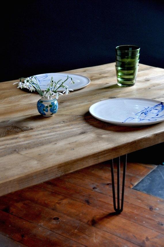 Mesa de comedor Madera Recuperada Mueble Estilo Industrial   Etsy