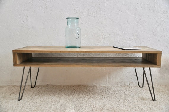 Fantastic Coffee Table Tv Stand Hairpin Steel Legs Narrow Side Table Media Unit Custom Colour Sizes Industrial Mid Century Scandi Bespoke Furniture Pabps2019 Chair Design Images Pabps2019Com