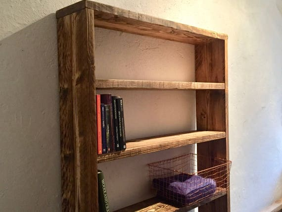 outlet store 9e1b9 96f57 Shelf Shelves Reclaimed Wood Shelving Unit Bookcase Custom Made Rustic Room  Divider Cafe Restaurant Office Storage Chic Scaffold Furniture