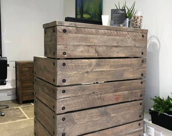Outdoor bar Reception Desk, Reclaimed Wood Industrial Rustic, Office Front Counter, Custom Made