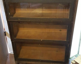 Antique Udell Barrister Bookcase Vintage Lawyer