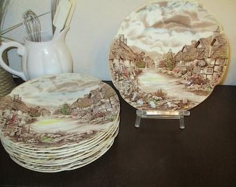 Vintage Johnson Bros PlatterEnglish TransferwareOlde English CountrysideJohnson Brothers Olde English Countryside PlatterChristmas Plate