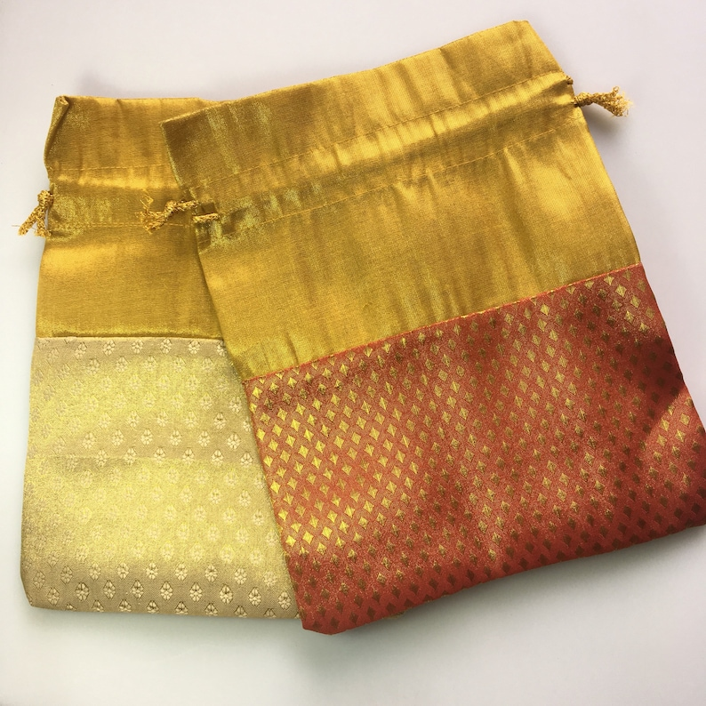 25 Diwali Party Return Gift Favor Bags - Indian Wedding Favor Bags -  Brocade Silk Party Favor Bag - potli bags