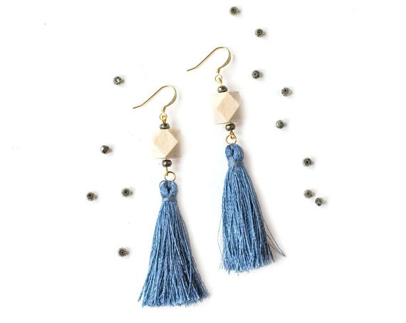 Zelda Pyrite Tassel Diffuser Earrings (Nickel Free)