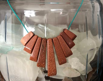 Brown Goldstone Necklace