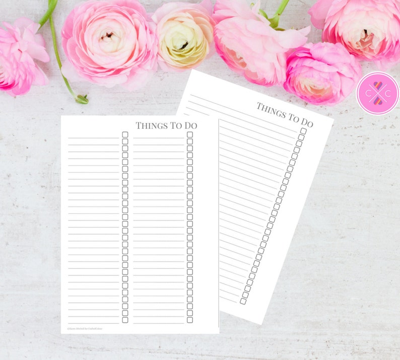 Grey Printable To Do List Insert for Large Kikki K and A5 image 0