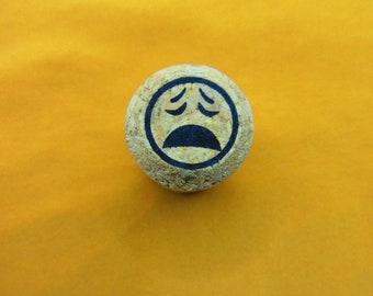 Emoji 1.18x.78 Cork Mounted Rubber Stamp