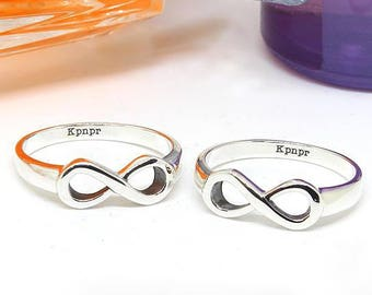Infinity ring - custom engraved ring - Engraved Infinity Ring - Silver Infinity Ring - Sterling silver ring - Infinity ring  Friendship ring