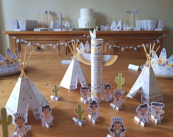 Indian birthday kit (or even baptism) customizable and printable DIY way