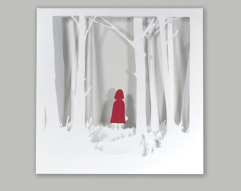 Red Riding Hood little frame child fairy tale the Brothers Grimm