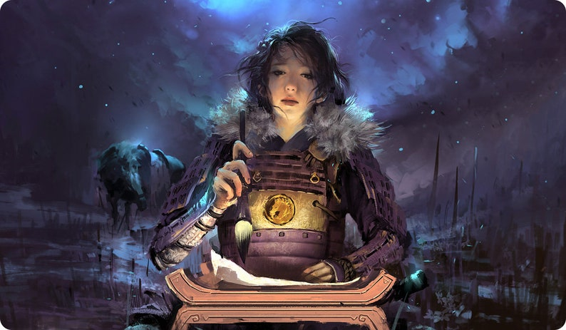 Legend of the Five Rings LCG L5R Play Mat Vuong Le Warrior Poet