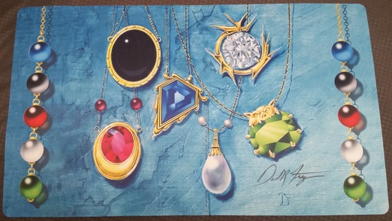 Mox Pearl Play Mat Signed by Dan Frazier MTG Magic the Gathering CCG