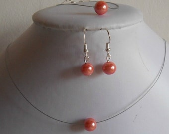 Ornament 3 parts marriage solitary coral beads