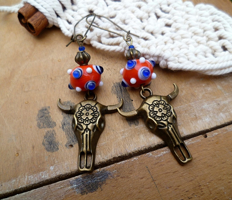 Sold In Pairs BOHO FILIGREE MOON STUD EARRINGS 316L STAINLESS STEEL//BRASS