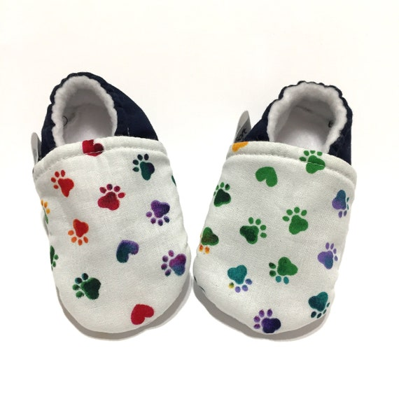 b150c8f998f3e Paw Print Baby Shoes, Dog Baby Booties, Cat Baby Moccs