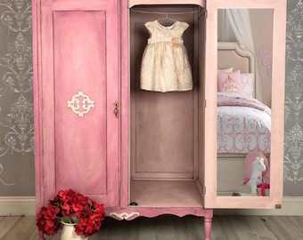 painted pink dresser chest of drawers bedroom furniture in etsy rh etsy com