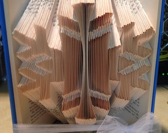 Snowflake folded book-winter - christmas- snow - cold - gift
