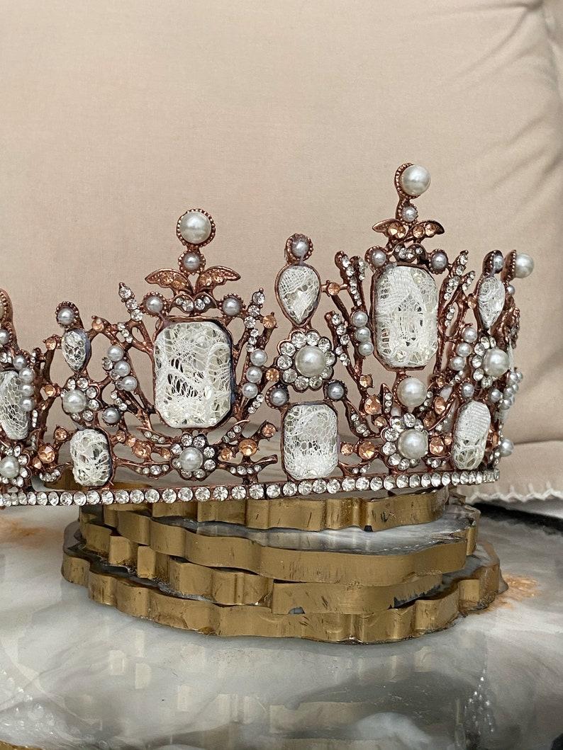 Gorgeous Queen Baroque Crown HeadpieceQueen TiaraBlack Crown Headpiece For WomenQueen HeadpieceGothic HeaddressGothic Tiara Crown