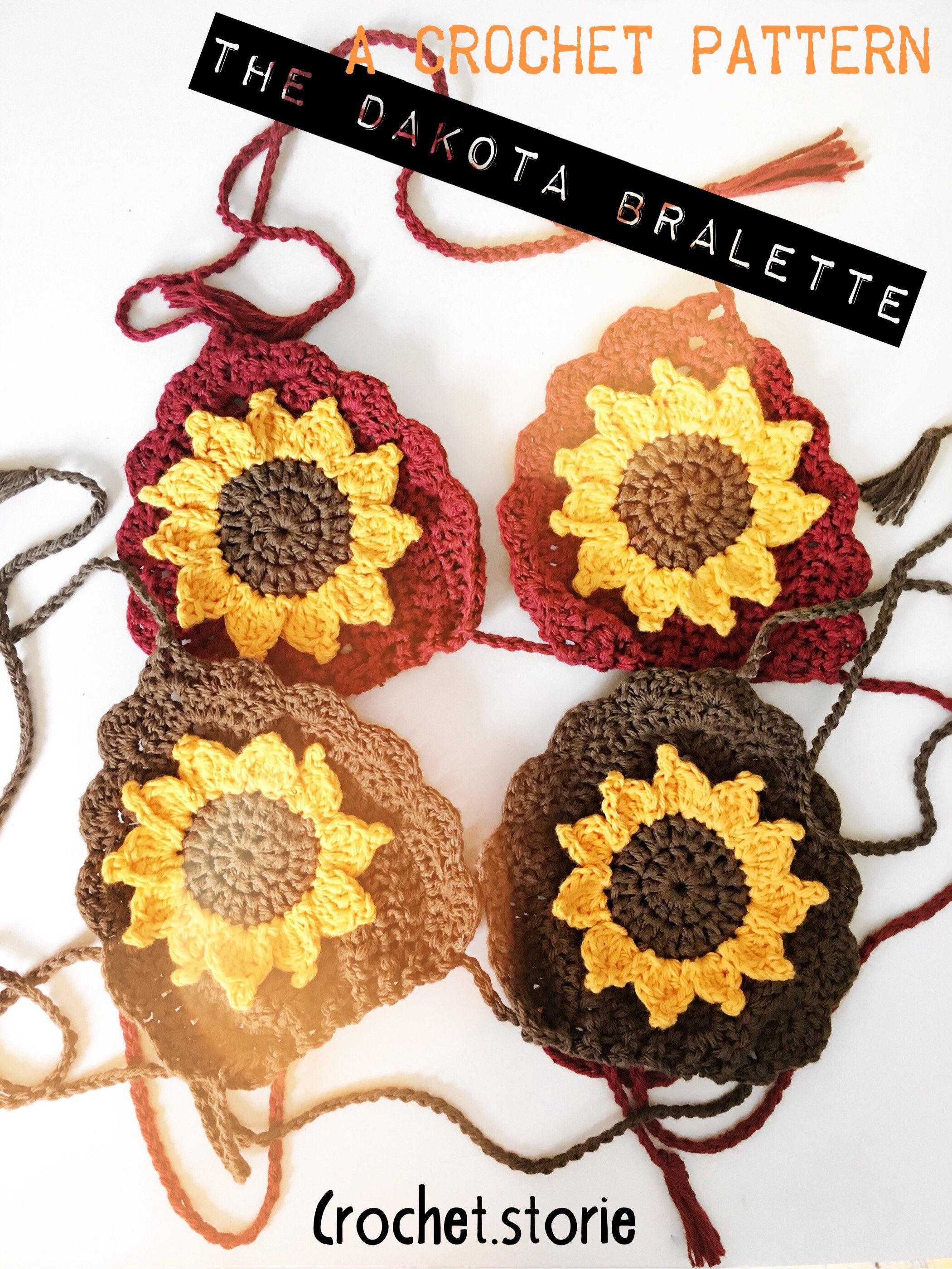Crochet Pattern The Dakota Bralette Pattern 1 Size Crop Top