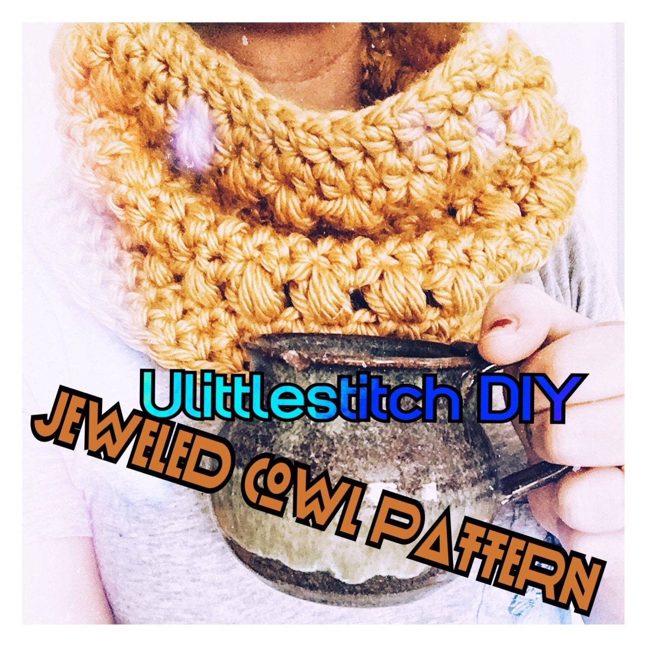 Crochet Pattern Jeweled Cowl Pattern Cowl Pattern Easy Crochet