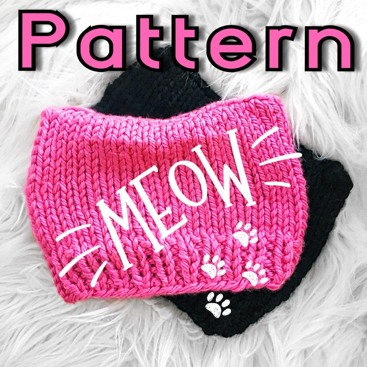 Knitting PATTERN- Cat Beanie - pattern, cat hat pattern
