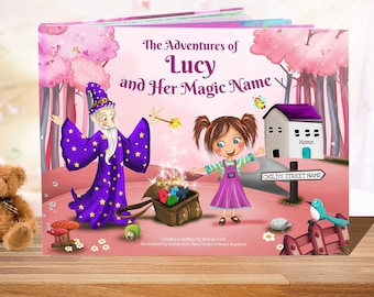 Personalized Book for Girls -  A Personalized Story Book - A Unique Story Based on the Letters of a Child's Name