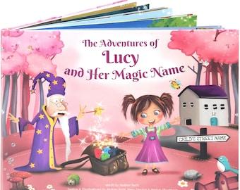 Gepersonaliseerd boek voor meisjes - een gepersonaliseerde Story Book - een unieke verhaal gebaseerd op de Letters van de naam van een kind - volgende dag verzending