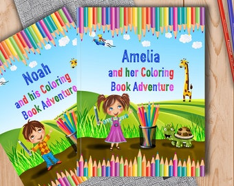 Coloring Book For Children Personalised With Name And Personal Message Inside