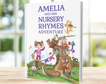 First Birthday Gift - Personalized Book of Timeless Nursery Rhymes and Modern Poems for Baby and Child - Beautiful Baby Gift