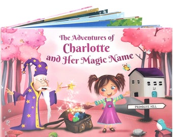 Custom Name Book for Girls -  A Personalized Story Book - A Unique Story Based on the Letters of a Child's Name - NEXT DAY DISPATCH