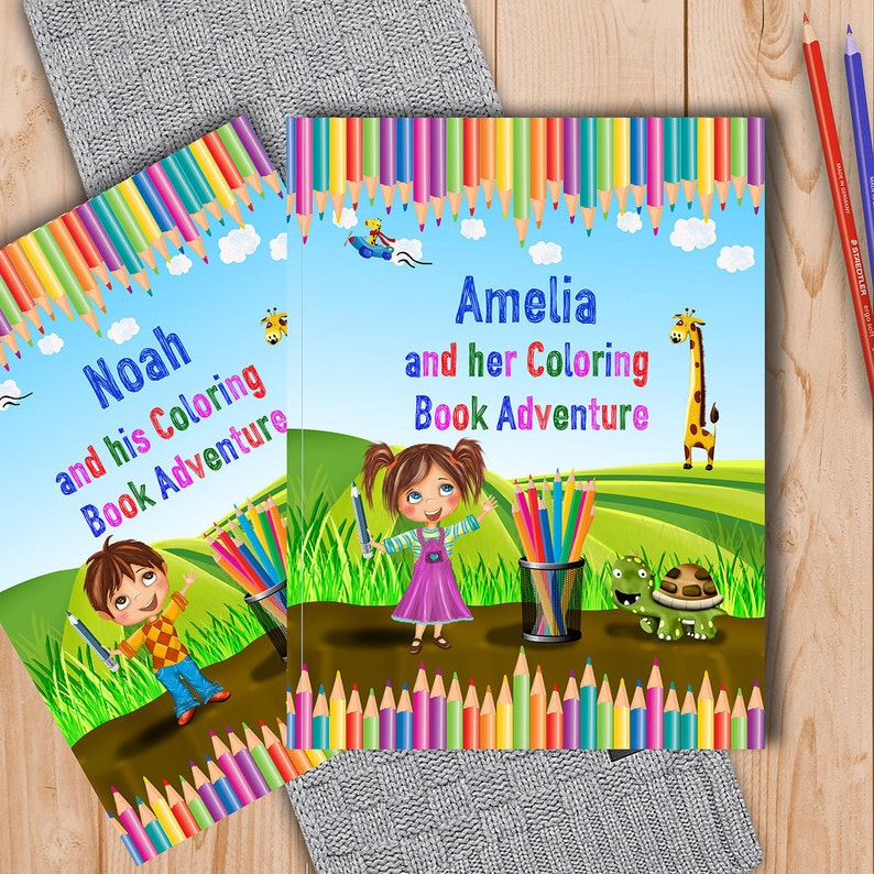 Personalised Coloring Book for Kids A Fun Coloring Book   Etsy
