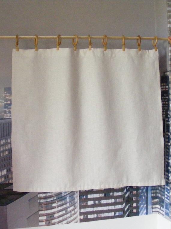 Ivory Linen Cafe Curtains or Valance / Linen Valance / Kitchen | Etsy