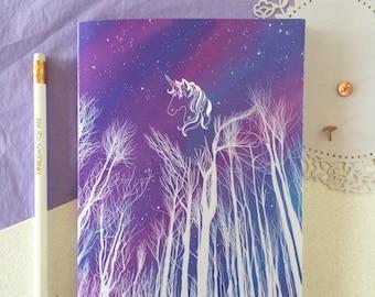 Unicorn notebook a5. Unicorn stationery. Unicorn gift. School supplies. Bullet journal