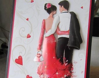 Love card, handmade. Wedding anniversary card