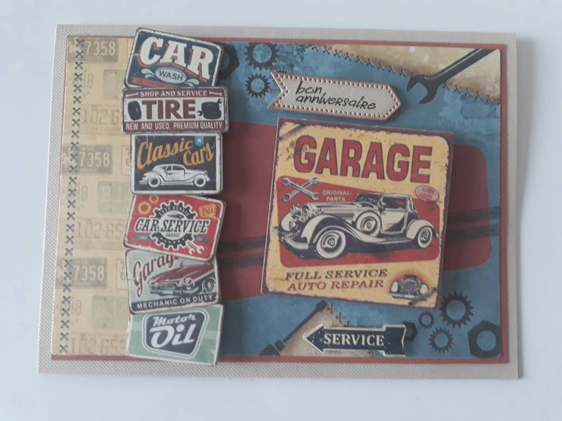 Man Birthday Card Cars Themed