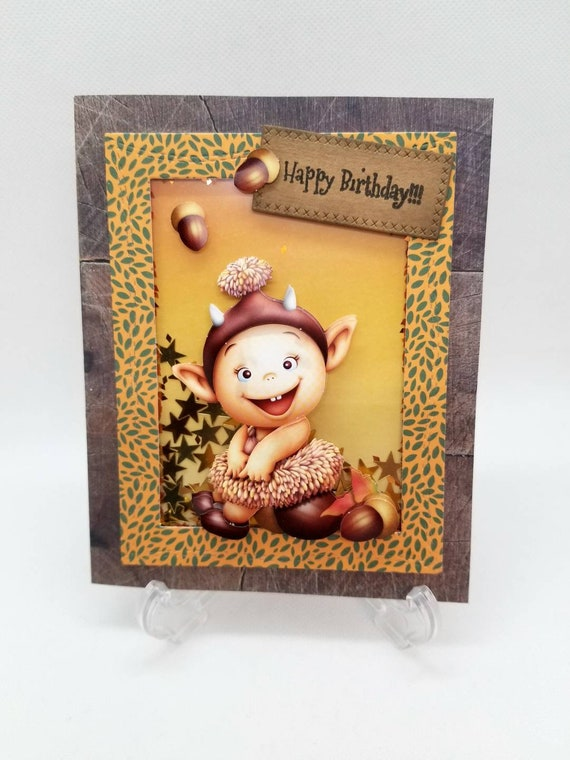 Handmade birthday card Little boy card Birthday card Card to shake. Boy birthday card