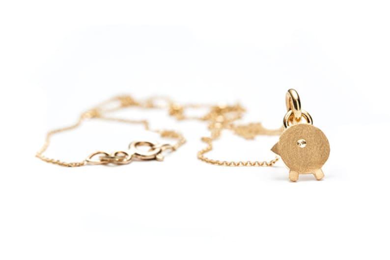 Coco Pendant in Gold  Chick Gold Pendants  Gold Pendants  Chick Pendants  Gold Jewelry  Necklace Child  Coco