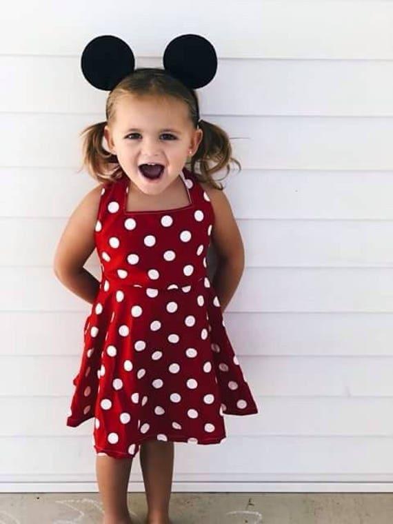 2c8d62b7bba Minnie Mouse dress Red   White Polka Dot Dress Disney Dress