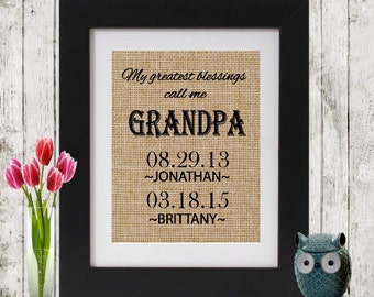 Gift for Dad - Father's Day Gift - Gift for Father - My Greatest Blessings Call Me Grandpa - Gift for Dad - Gift for Grandfather