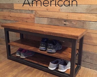 Superieur More Colors. Industrial Rustic Shoe Bench