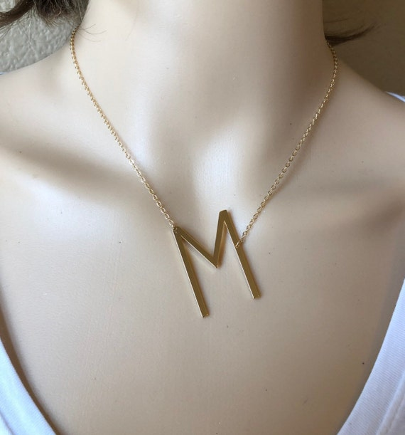 Initial Choker Christmas gift for friend Initial Necklace or Rose Gold Silver Layered Letter Necklace Monogram Necklace Gold