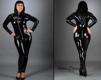 98469a7ca902 Custom Made Catsuit with Neck to Crotch Zipper alternative to latex or PVC