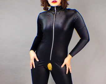 c8bd4936a523 Crotchless Bodysuit or Catsuit Spandex Latex Style Fetish