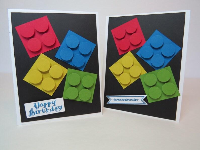Carte Lego Carte De Voeux Carte De Fête Carte Enfant Pluie De Lego Anglais Ou Français