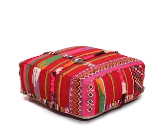 Pouf Ottoman Floor Pillow Moroccan Foot Stool Seat